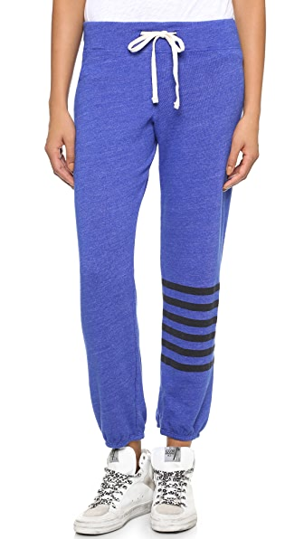SUNDRY Placed Stripe Sweats