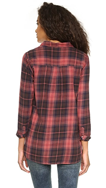 SUNDRY Flannel Plaid Shirt