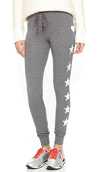 SUNDRY Stars and Hearts Skinny Sweatpants