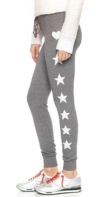 SUNDRY Stars and Hearts Skinny Sweatpants