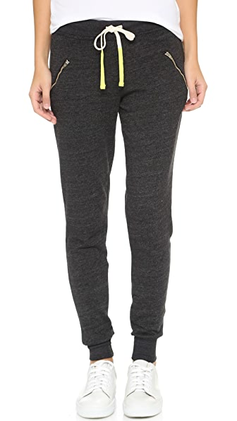 SUNDRY Zipper Sweatpants In Black