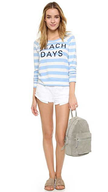 SUNDRY Sweater Knit Beach Days Pullover