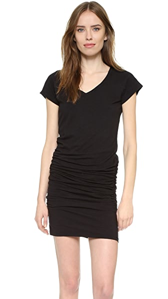 SUNDRY V Neck Short Sleeve Dress