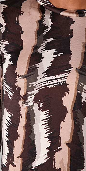 SUNO Long Printed Dress