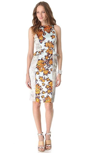 SUNO Fitted Side Peplum Dress