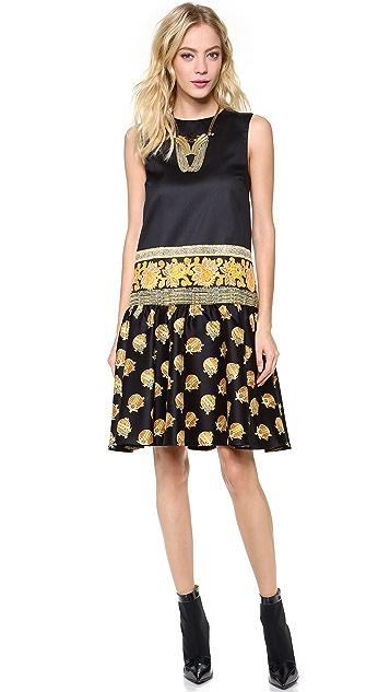 SUNO Ruffle Sleeveless Dress