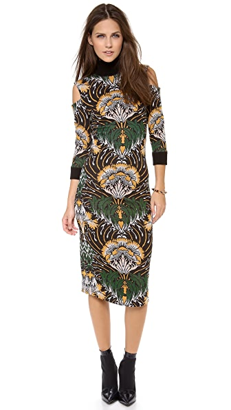 SUNO Knit Jacquard Pencil Dress