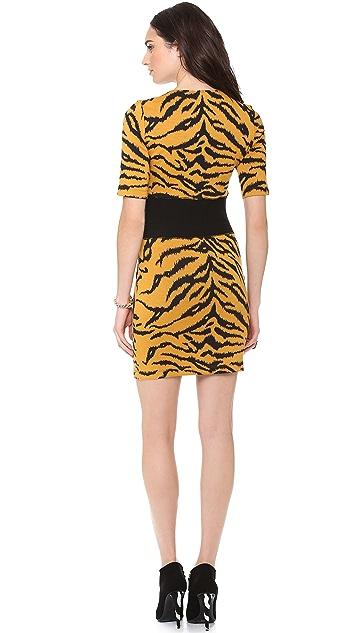 SUNO Knit Jacquard Mini Dress