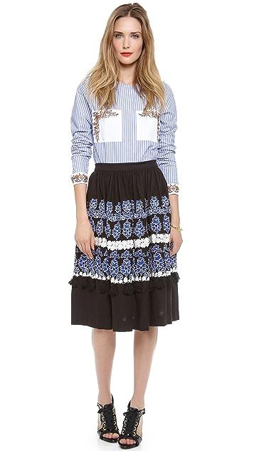 SUNO High Waisted Skirt