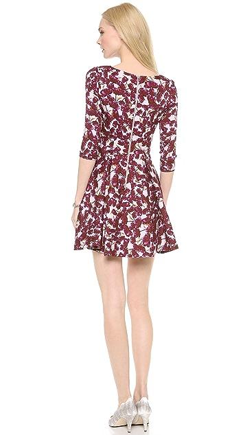 SUNO 3/4 Sleeve Flared Dress