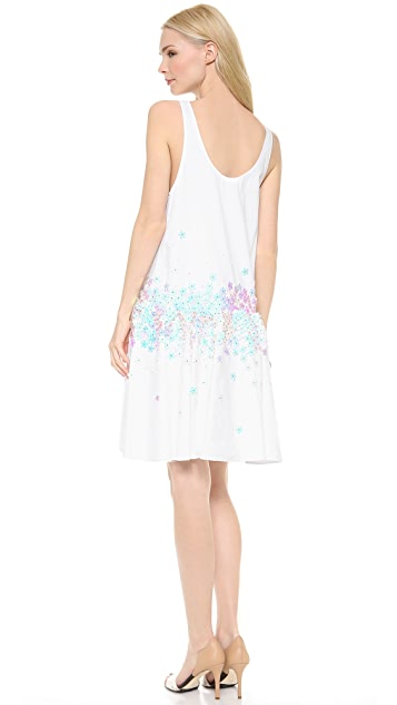 SUNO Sequin Tank Dress with Ruffle Hem