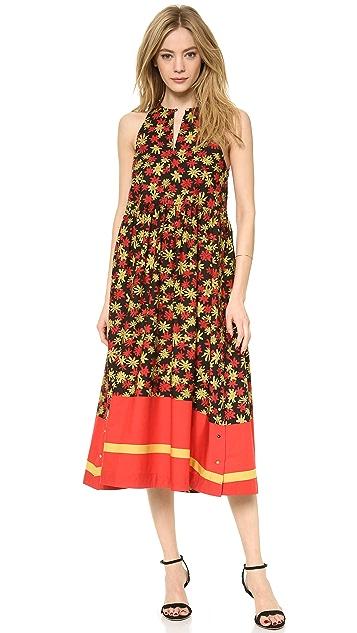 SUNO Side Button Midi Dress