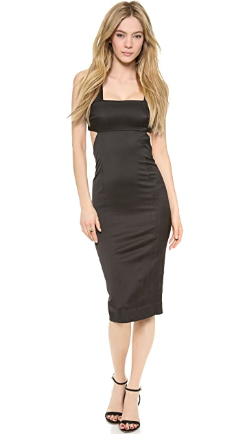 SUNO Solid Cutout Dress