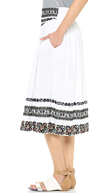 SUNO Hip Yoke Skirt