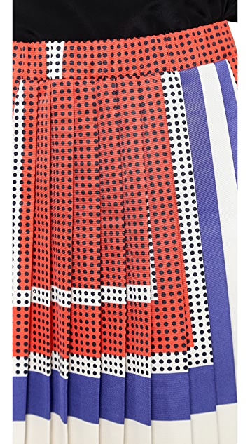 SUNO Pleated A Line Skirt