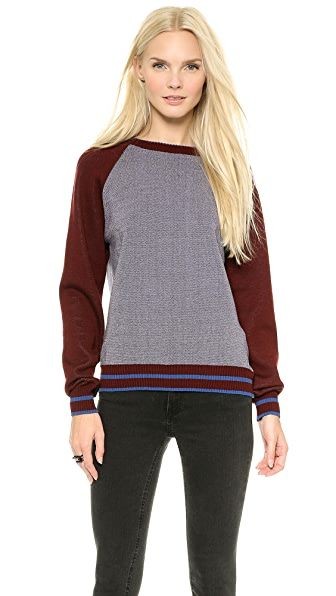 SUNO Raglan Crew Neck Sweater
