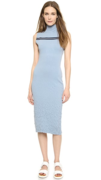 Shop SUNO online and buy Suno Striped Knit Cutout Dress Slate/Navy/White dress online