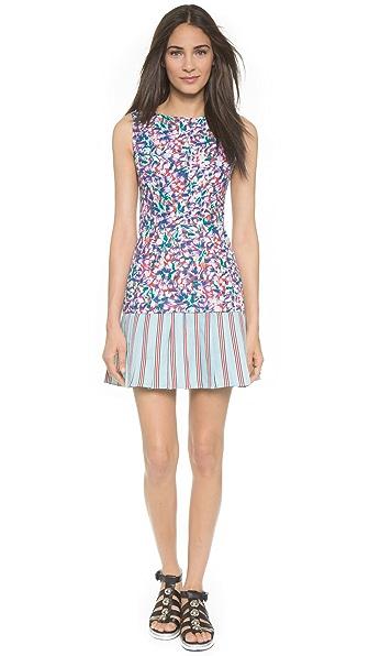 SUNO Pleated Hem Mini Dress