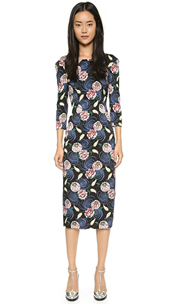 Shop SUNO online and buy Suno Backless Dress Whimsical Floral dresses online