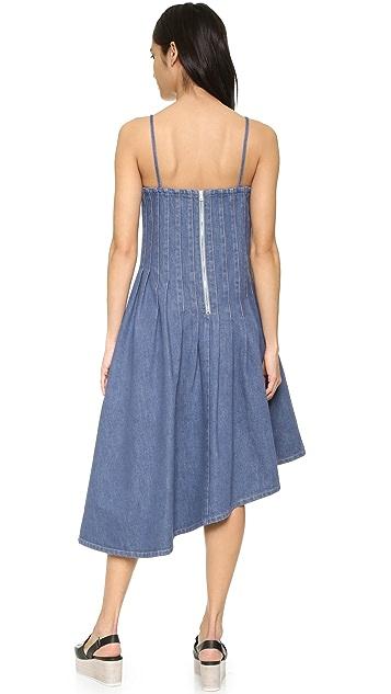 SUNO Asymmetrical Denim Dress