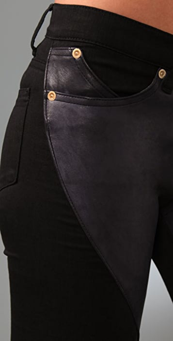 Superfine Leather Super Swirl Jeans