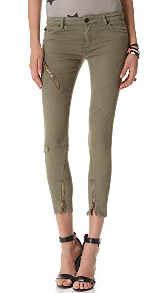 Superfine Seam & Zip Skinny Jeans