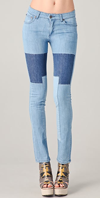Surface to Air Regular Slim Patched Jeans