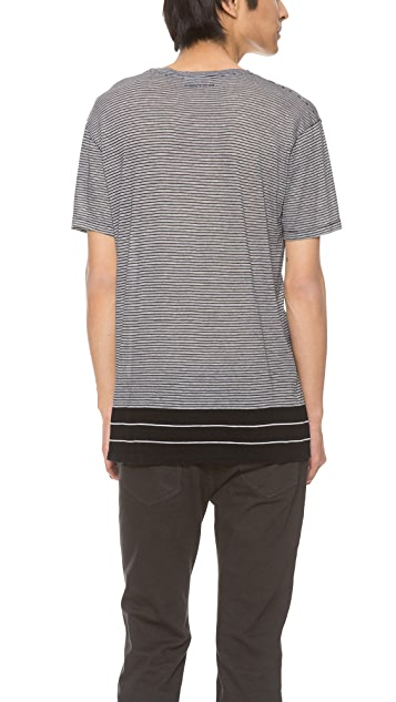 Surface to Air Uneven Stripe Dustin Tee