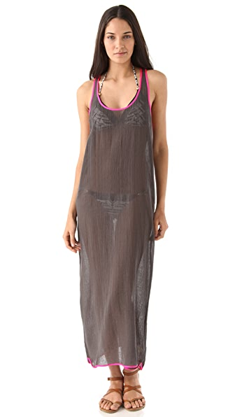 Surf Bazaar Maxi Racer Back Tank Dress