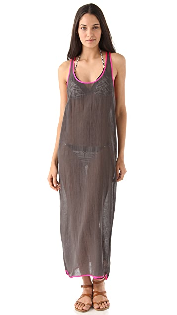 Surf Bazaar Maxi Racer Back Tank Dress