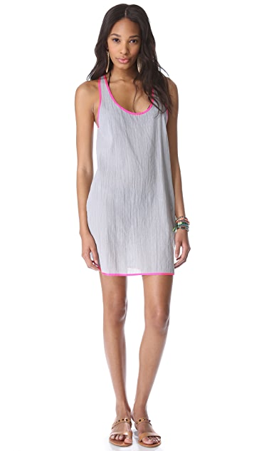 Surf Bazaar Tank Cover Up Mini Dress