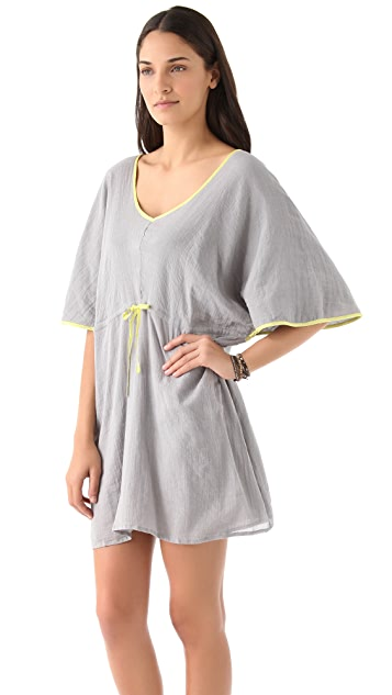 Surf Bazaar Gauze Butterfly Cover Up