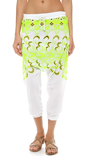 Surf Bazaar Eyelet Long Rise Pants