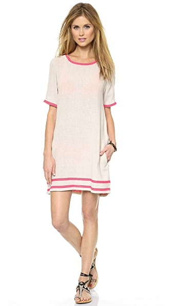 Surf Bazaar Embroidered Crew Dress