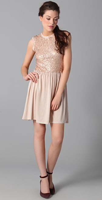 Susana Monaco Sequined Party Dress