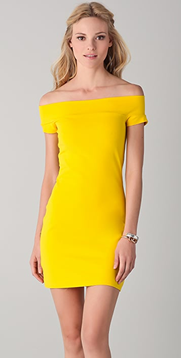 Susana Monaco Naimi Band Off the Shoulder Dress