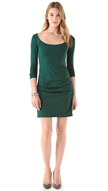 Susana Monaco Gathered Sleeve Dress
