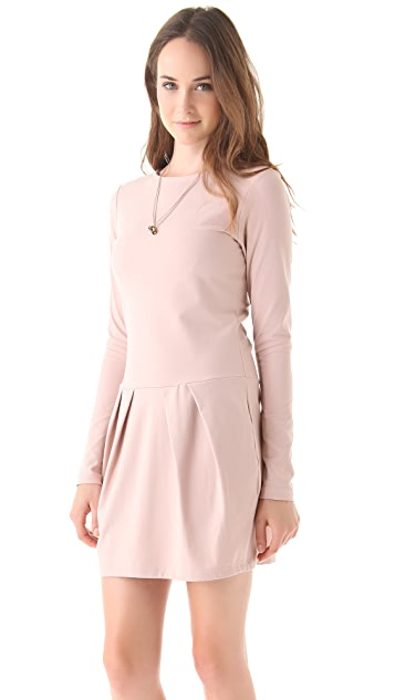 Susana Monaco Diagonal Pleat Dress