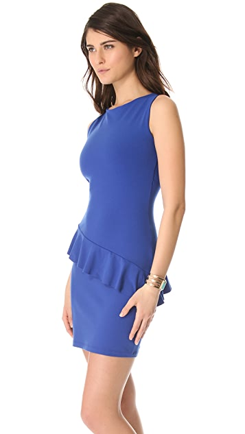 Susana Monaco Asymmetrical Ruffle Dress
