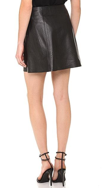 Susana Monaco Madeleine Leather Skirt