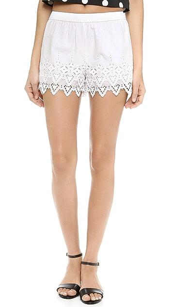 Susana Monaco Victoriana Eyelet Shorts