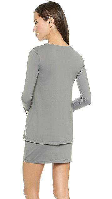 Susana Monaco Double Layer Crew Dress