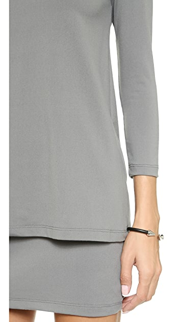 Susana Monaco Double Layer Crew Dress