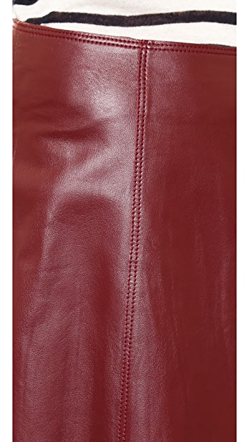 Susana Monaco Madeleine Leather Skirt