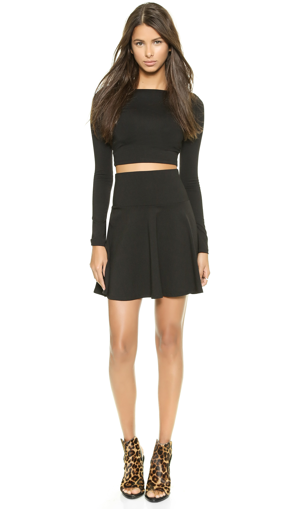 Susana Monaco High Waisted Flare Skirt | SHOPBOP