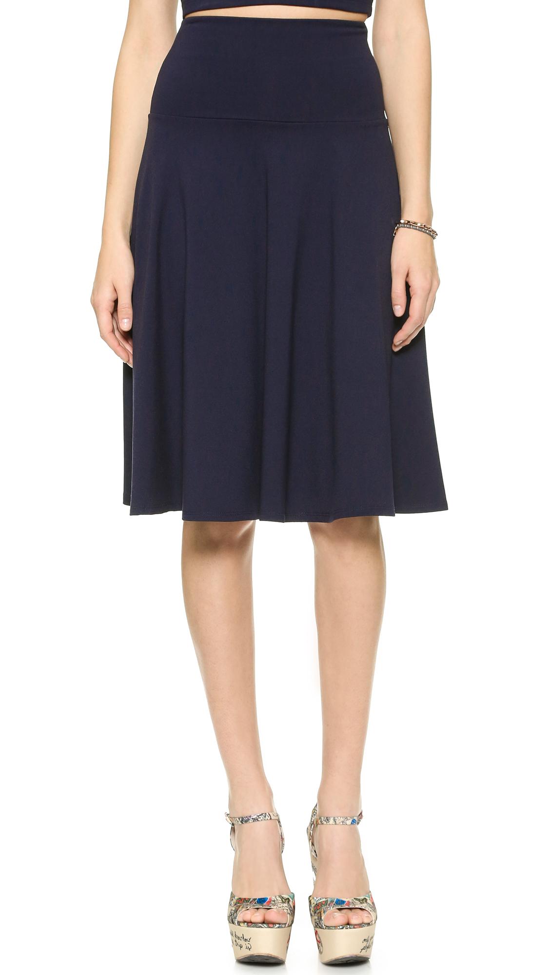 Susana Monaco High Waisted Tea Skirt - Midnight