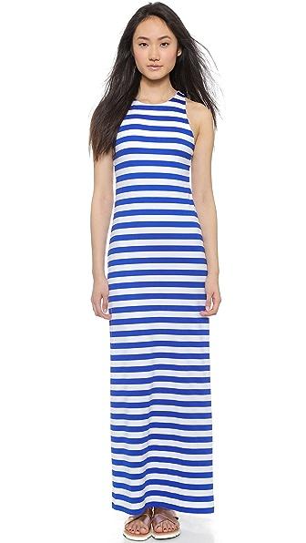 Kupi Susana Monaco online i prodaja Susana Monaco Striped Racer Maxi Dress Topaz/Sugar haljinu online