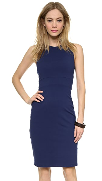 Susana Monaco Jenn Back Twist Dress In Inkwell