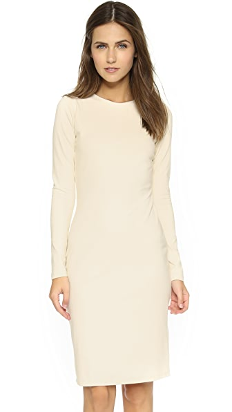 Susana Monaco Emma Long Sleeve Dress In Champagne