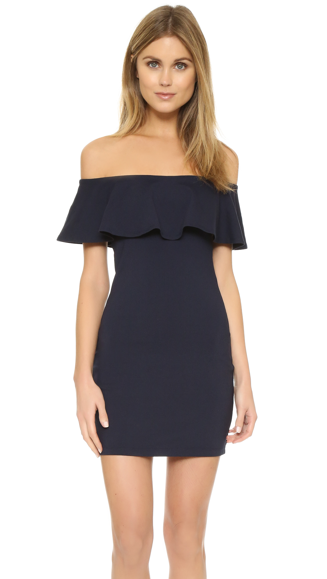 Susana Monaco Hannah Off Shoulder Dress In Midnight
